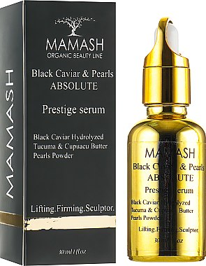 Сыворотка-скульптор - Mamash Organic Black Caviar & Pearls Absolute Prestige Serum