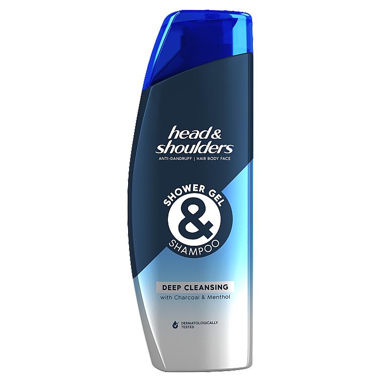 """Гель для душа и шампунь против перхоти """"Глубокое Очищение"""" - Head & Shoulders Deep Cleansing Shower Gel & Shampoo"""