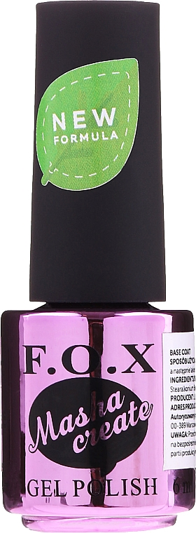 База для гель-лака - F.O.X Masha Create Color Base