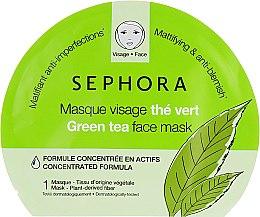 """Духи, Парфюмерия, косметика Тканевая маска для лица """"Зеленый Чай"""" - Sephora Face Mask"""