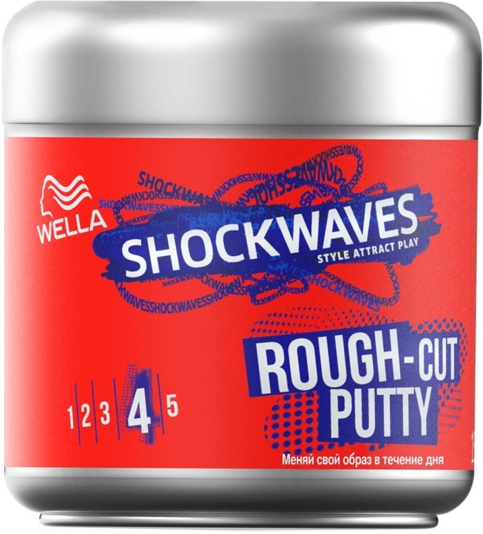 Моделирующая паста для волос - Wella ShockWaves Rough-cut Putty