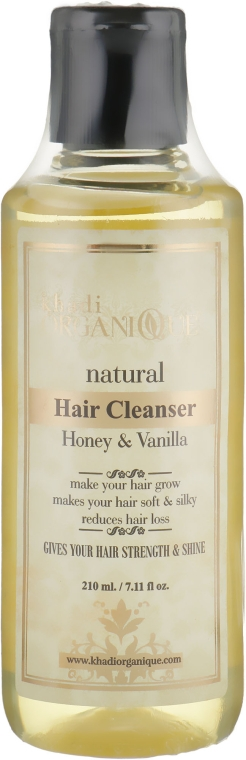 """Натуральный травяной аюрведический шампунь """"Мед и Ваниль"""" - Khadi Organique Hair Cleanser Honey & Vanilla"""