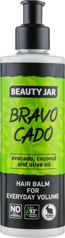 "Бальзам для волос ""Bravo Cado"" - Beauty Jar Hair Balm For Everyday Volume"