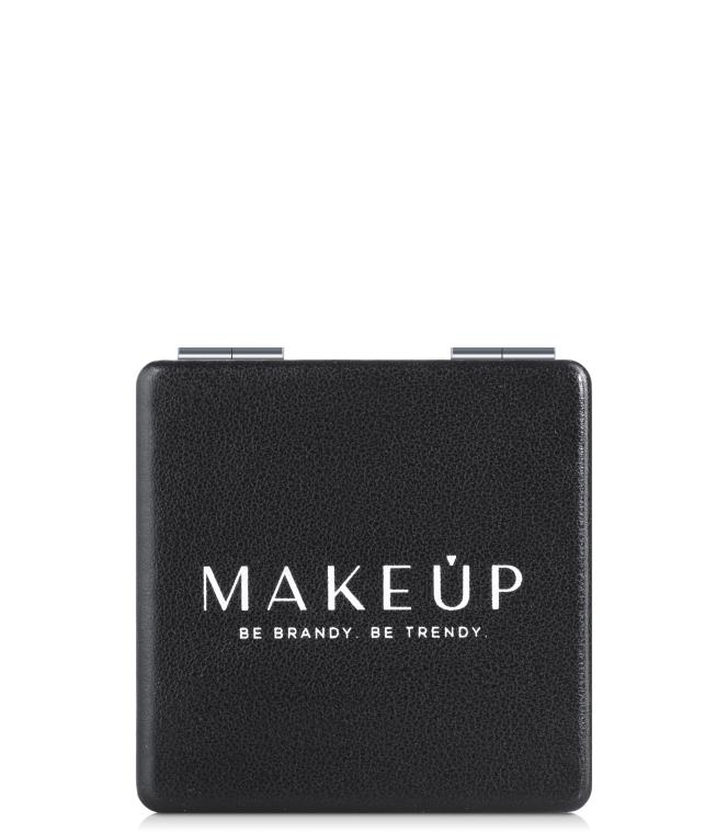 Раскладное карманное зеркало квадратное, черное - Makeup