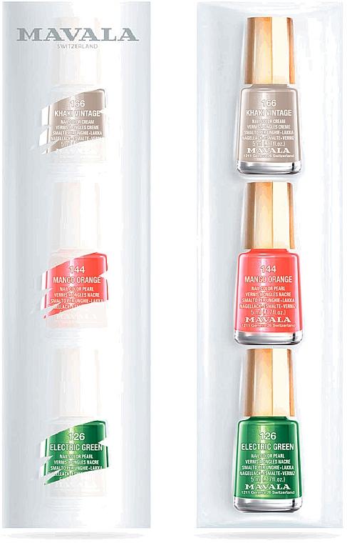 "Набор лаков ""Настроение"" №01483, тон 166, 144, 126 - Mavala (3 х n/polish/5ml)"