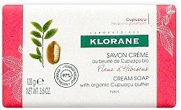 Духи, Парфюмерия, косметика Мыло - Klorane Cupuacu Hibiscus Flower Cream Soap
