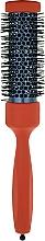Парфумерія, косметика Брашинг з дерев'яною ручкою, покритою каучуковим лаком, d 32,5 mm, помаранчевий - 3ME Maestri