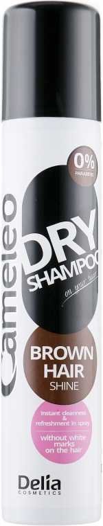 Сухой шампунь для темных волос - Delia Cameleo Brown Hair Shine Dry Shampoo