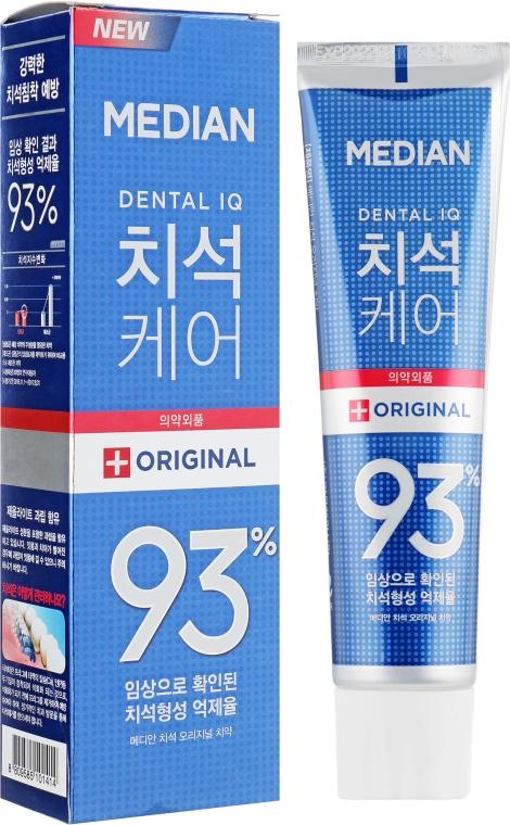 Отбеливающая зубная паста для удаления налета со вкусом мяты - Median Toothpaste Original