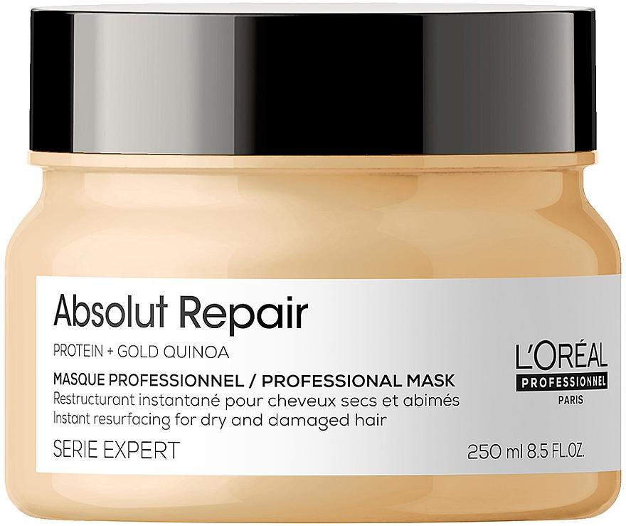 Маска для интенсивного восстановления поврежденных волос - L'Oreal Professionnel Serie Expert Absolut Repair Gold Quinoa +Protein Mask
