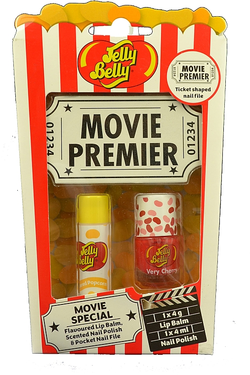 Набор - Jelly Belly Movie Mix Pack (lip/balm/4g+nail/polish/4ml+nail/file)