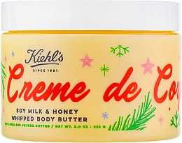Духи, Парфюмерия, косметика Крем для тела с ароматом соевого молока и меда - Kiehl`s Creme de Corps Whipped Body Butter Soy Milk & Honey New Year Edition