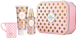 Духи, Парфюмерия, косметика Pupa Miss Princess Kit Large Rose Petals - Набор(sh/milk/200ml + scented/water/150ml + cup)