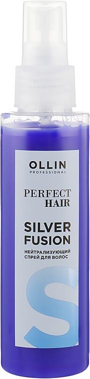 Нейтрализующий спрей для волос - Ollin Professional Perfect Hair Silver Fusion