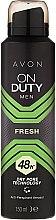 Духи, Парфюмерия, косметика Дезодорант-антиперспирант спрей - Avon On Duty Men Fresh 48H Deodorant Spray
