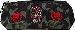 """Духи, Парфюмерия, косметика Косметичка """"Camouflage"""", 95863, розы и череп - Top Choice"""