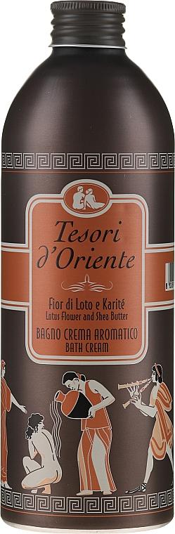 Парфюмированный крем-гель для ванны, цветок лотоса и масло ши - Tesori d'Oriente