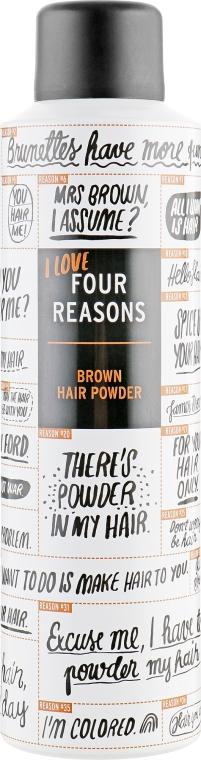 Мини пудра для тёмных волос - KC Professional Four Reason Brown Hair Powder