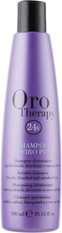 Сапфировый шампунь с кератином для светлых волос - Fanola Oro Therapy Shampoo Zaffiro Puro