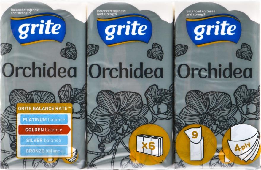 """Носовые платки четырехслойные """"Orchidea"""" - Grite"""