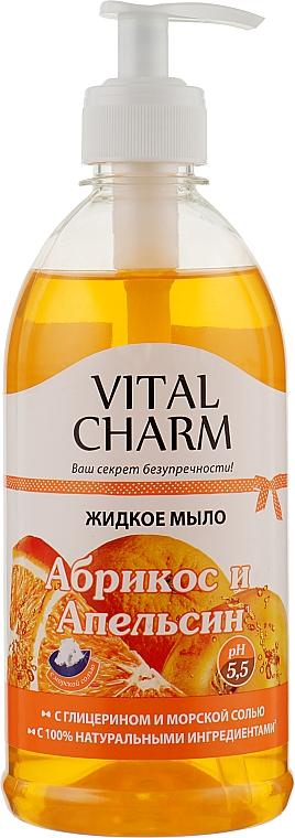 "Жидкое мыло с глицерином ""Абрикоса и Апельсина"" - Vital Charm"