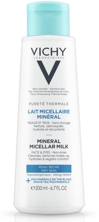 Мицеллярное молочко для сухой кожи лица и глаз - Vichy Purete Thermale Mineral Micellar Milk