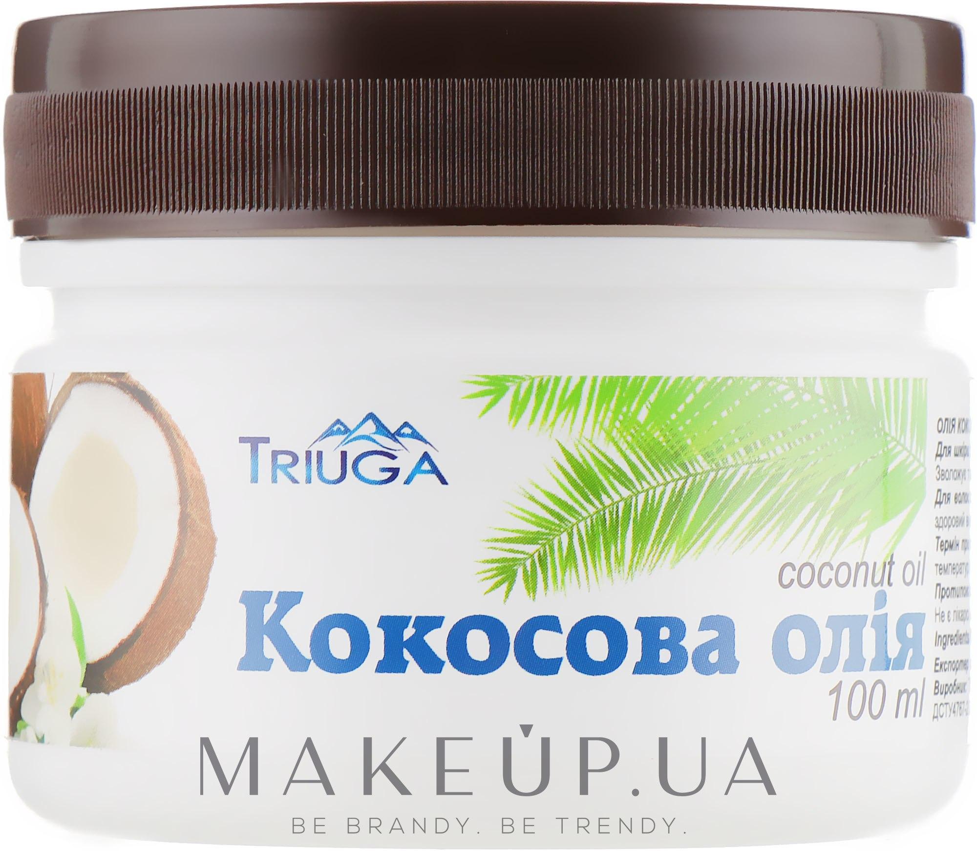 Аюрведическое, профилактическое кокосовое масло, холодного отжима - Triuga — фото 100ml