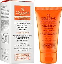 Лікувальний сонцезахисний крем від зморшок з захистом днк клітин - Collistar Speciale Abbronztura Perfetta Anti-Wrinkle Tanning Face Treatment SPF15 — фото N2
