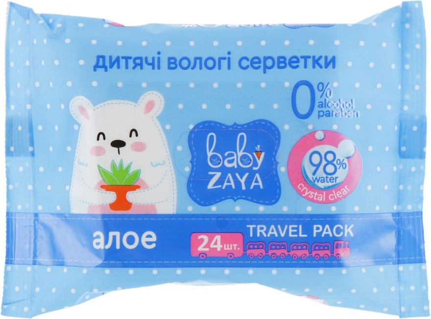 """Влажные салфетки """"Алоэ"""", 24шт - Baby Zaya"""