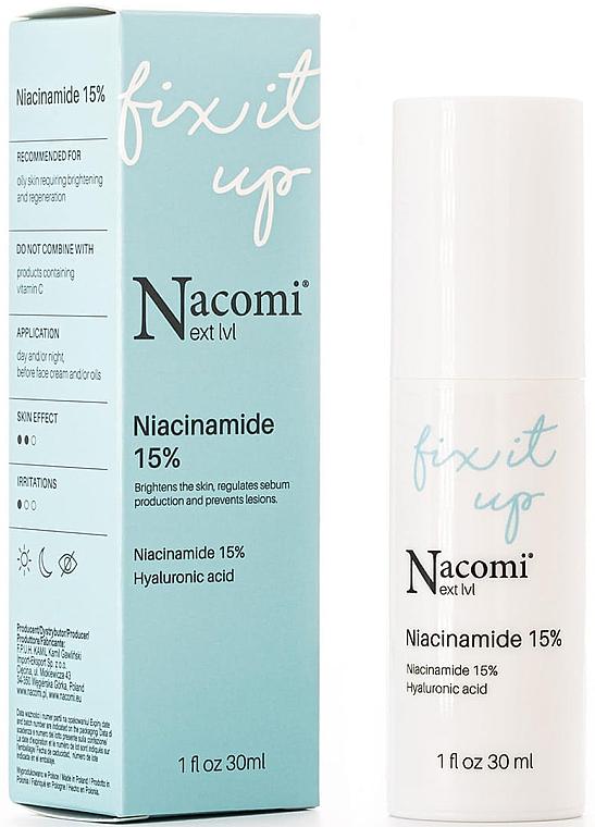 Сыворотка для лица с 15% концентрацией ниацинамида - Nacomi Next Level Niacinamide 15%