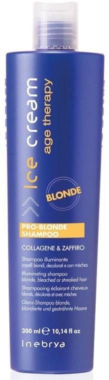 Шампунь для осветленных и мелированных волос - Inebrya Pro-Blonde Shampoo — фото N1