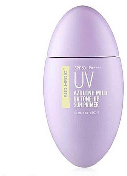 Легкий солнцезащитный праймер - Neogen Sur.Medic Azulene Mild UV Tone-Up Sun Primer SPF50+ PA++++