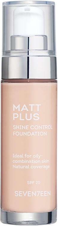 Тональный крем - Seventeen Matt Plus Shine Control Foundation
