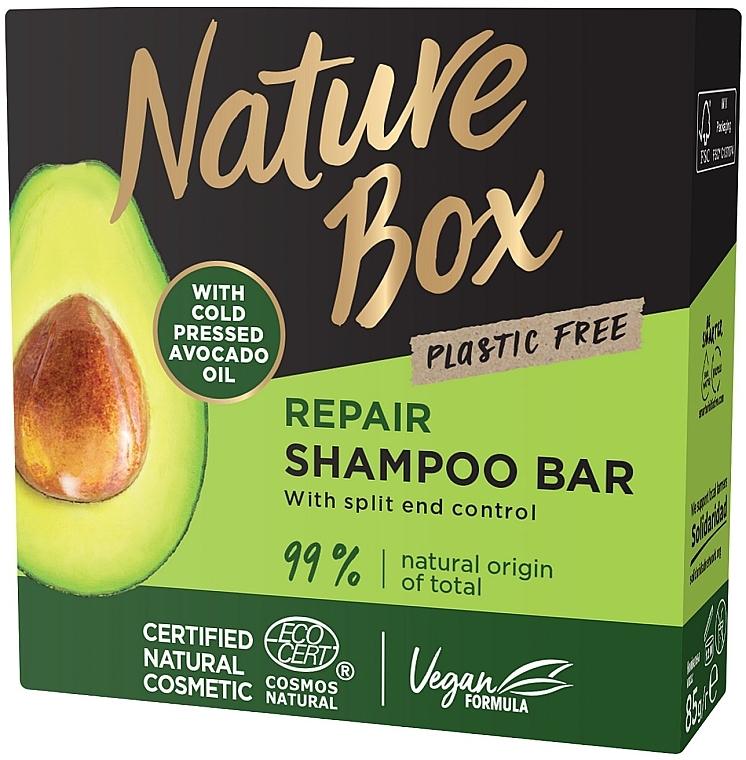 Твердый шампунь для восстановления волос с маслом авокадо холодного отжима - Nature Box Nourishment Vegan Shampoo Bar With Cold Pressed Avocado Oil — фото N2
