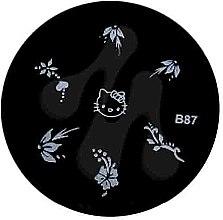 Духи, Парфюмерия, косметика Диск для стемпинга, B-87 - Nails Molekula