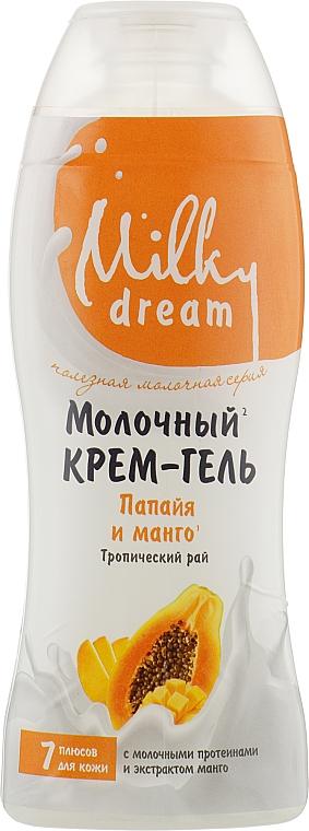"""Крем-гель для душа """"Папайя и манго"""" - Milky Dream"""