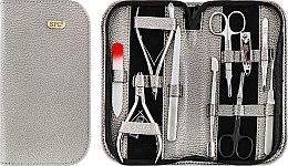 Парфумерія, косметика Манікюрний набір, 10 предметів, сірий металік+червоний, 77301ВМ - SPL