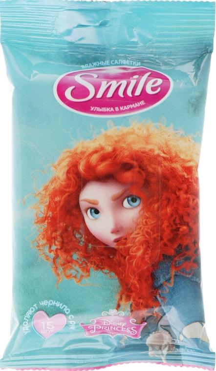 """Влажные салфетки """"Принцессы"""" 15шт, Merida - Smile Ukraine Princess"""