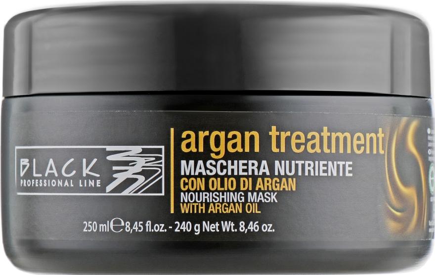 Маска для волос с аргановым маслом, кератином и коллагеном - Black Professional Line Argan Treatment Mask