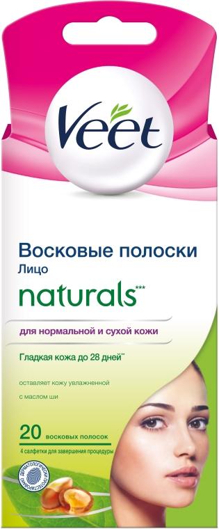 Восковые полоски с маслом ши для лица - Veet Naturals