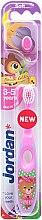 Духи, Парфюмерия, косметика Детская зубная щетка Step 2 (3-5) мягкая, розово-фиолетовая - Jordan