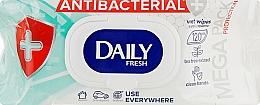 Духи, Парфюмерия, косметика Антибактериальные влажные салфетки, с клапаном - Daily Fresh Antibacterial Wet Wipes