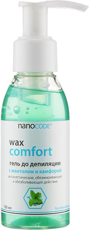 Гель до депиляции с ментолом и камфорой - NanoCode Wax Comfort Gel