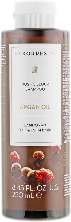 Шампунь-уход для окрашенных волос с аргановым маслом - Korres Argan Oil Shampoo