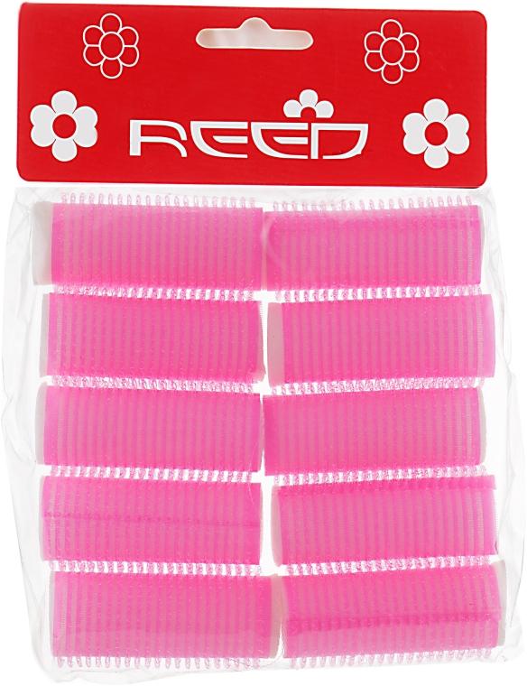 Бигуди-липучки с валиком 20 мм, розовые - Reed Curlers