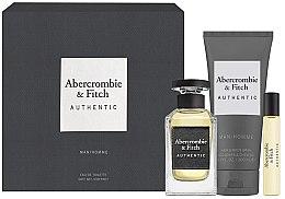 Духи, Парфюмерия, косметика Abercrombie & Fitch Authentic Men - Набор (edt/100ml + edt/15ml + sh/gel/200ml)