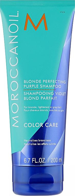 Тонирующий шампунь для волос с фиолетовым пигментом - Moroccanoil Blonde Perfecting Purple Shampoo