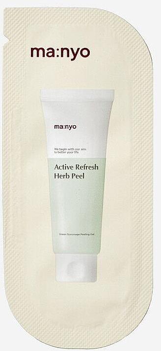Освежающий пилинг-гоммаж с травяным комплексом - Manyo Factory Active Refresh Herb Peel (пробник)