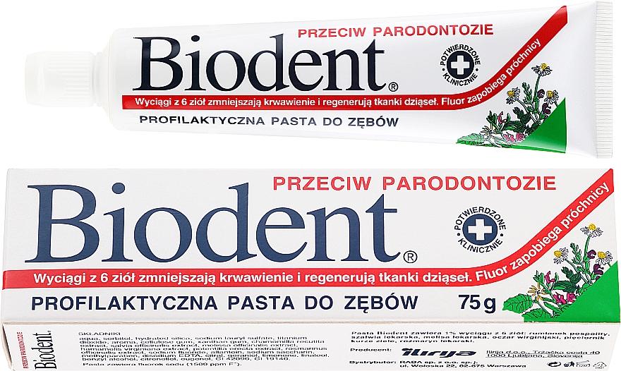 Зубная паста против пародонтита - Biodent