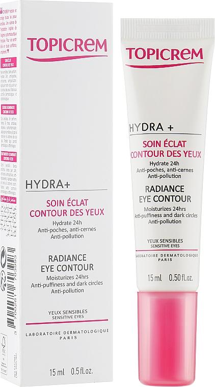 Крем для сияния кожи вокруг глаз - Topicrem Hydra+ Radiance Eye Contour